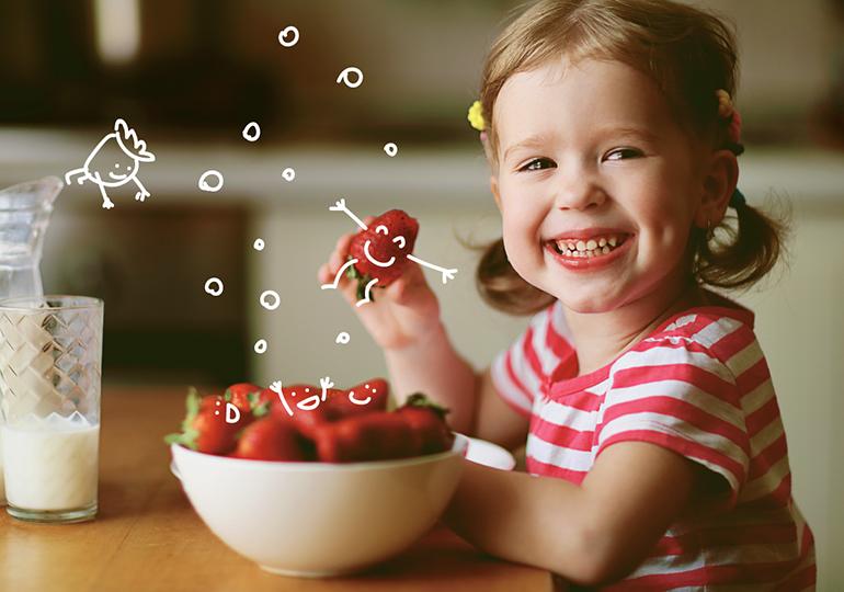 alimentação para crianças