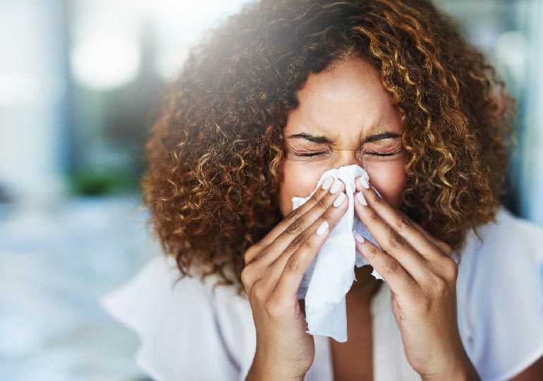 primeiros sinais de alergia