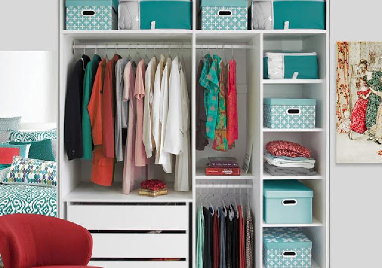 Organização de guarda roupa