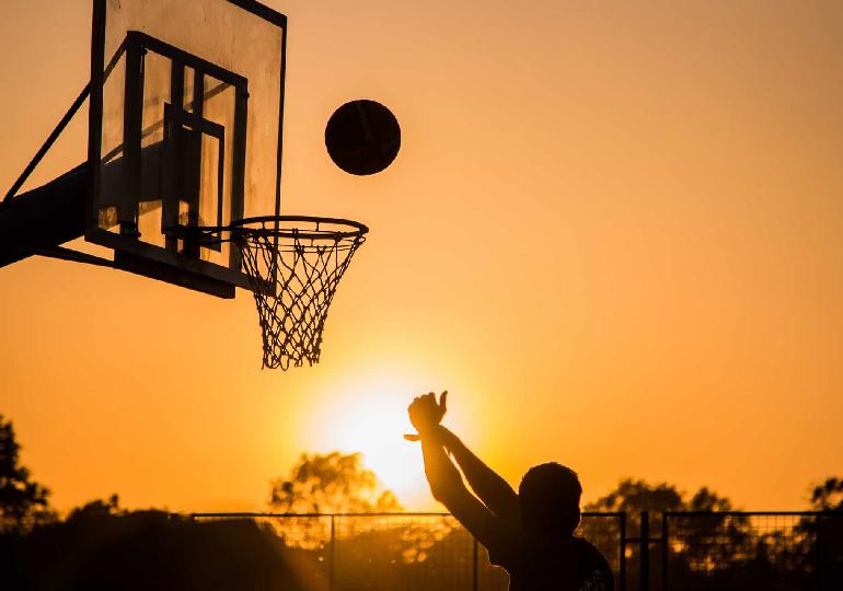 aula de basquete